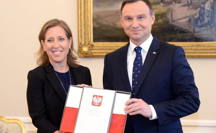Susan Wojcicki i Andrzej Duda
