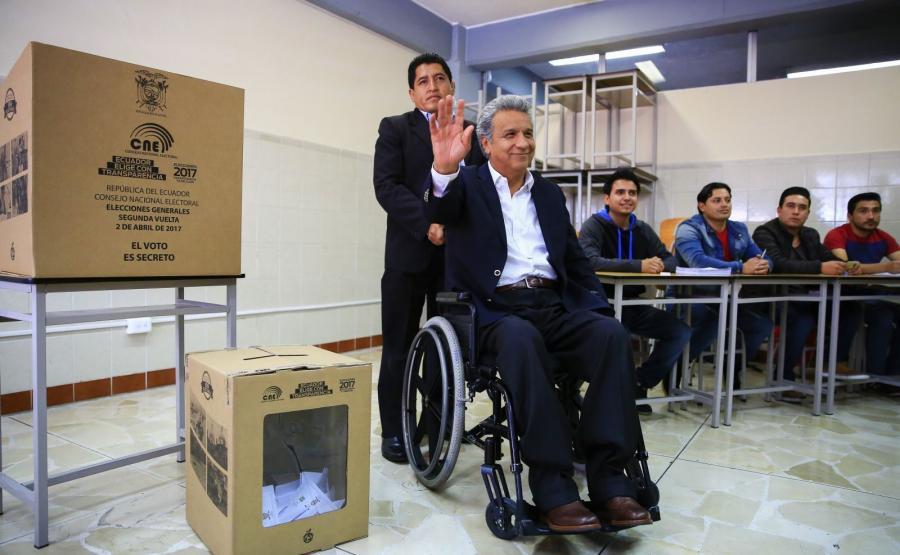 Socjalista Lenin Moreno wygrał drugą turę wyborów prezydenckich w Ekwadorze