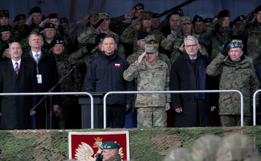 Andrzej Duda, Antoni Macierewicz, Jarosław Gromadziński, Witold Waszczykowski, Curtis Scaparrotti
