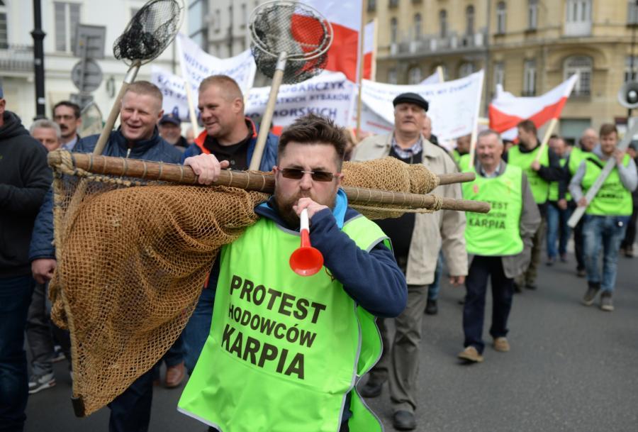 Protest hodowców ryb