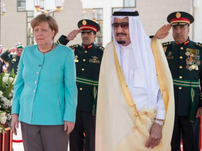 Angela Merkel i król Salman bin Abdulaziz al-Saud