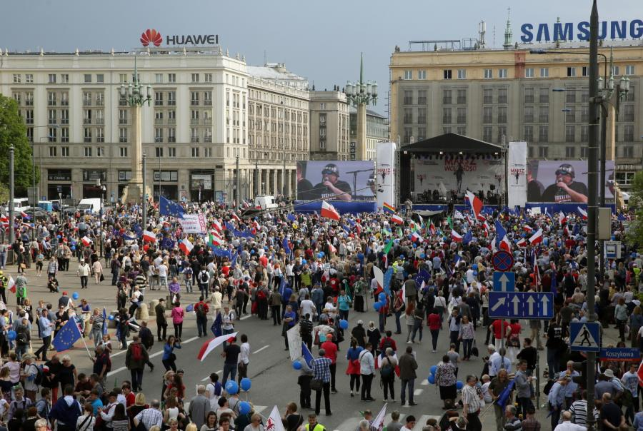Marsz Wolności Plac Konstytucji