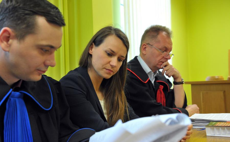 Radca prawny Łukasz Mackiewicz , posłanka Agnieszka Pomaska i prokurator Artur Pęcak