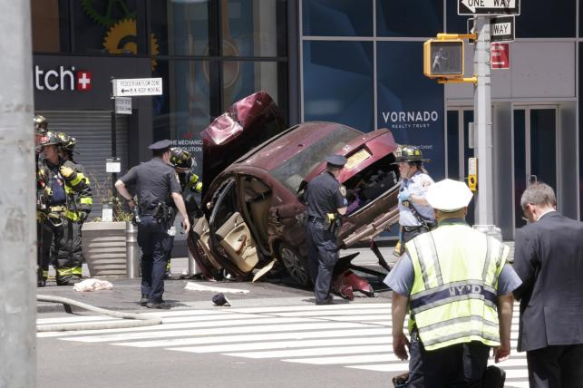 Miejsce wypadku na Times Square