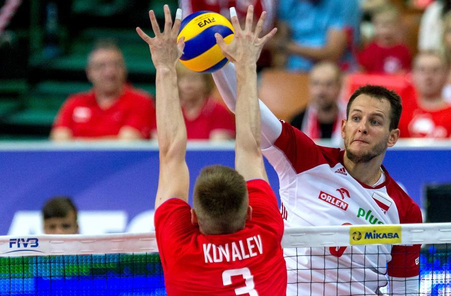 Bartosz Kurek (P) i Dmitrij Kowaliew (L)