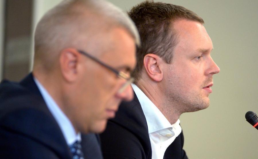 Roman Giertych i Michał Tusk