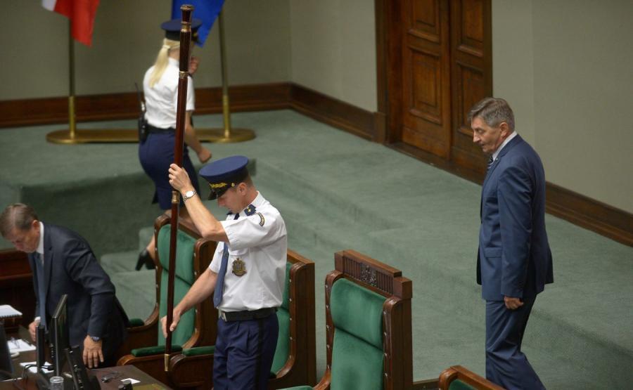 Marszałek Sejmu Marek Kuchciński i Straż Marszałkowska