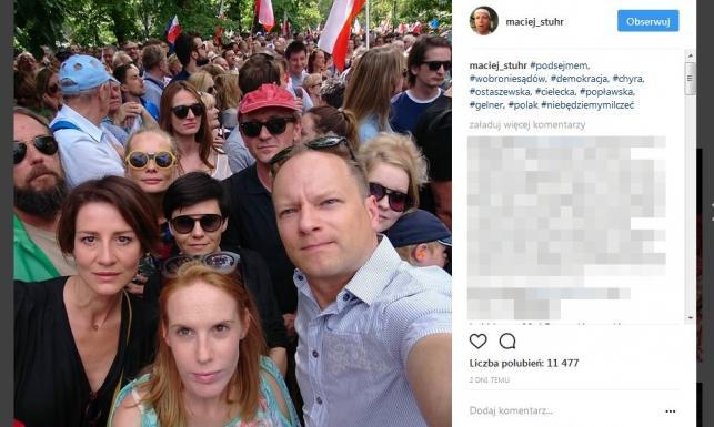 Stuhr, Cielecka, Ostaszewska, Janda, Herbuś i mocne słowa córki Tomasza Lisa. Gwiazdy protestują ws. sądów