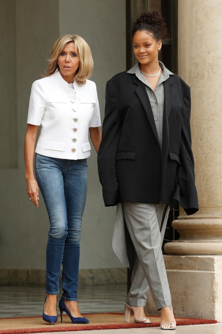 Rihanna i Brigitte Macron