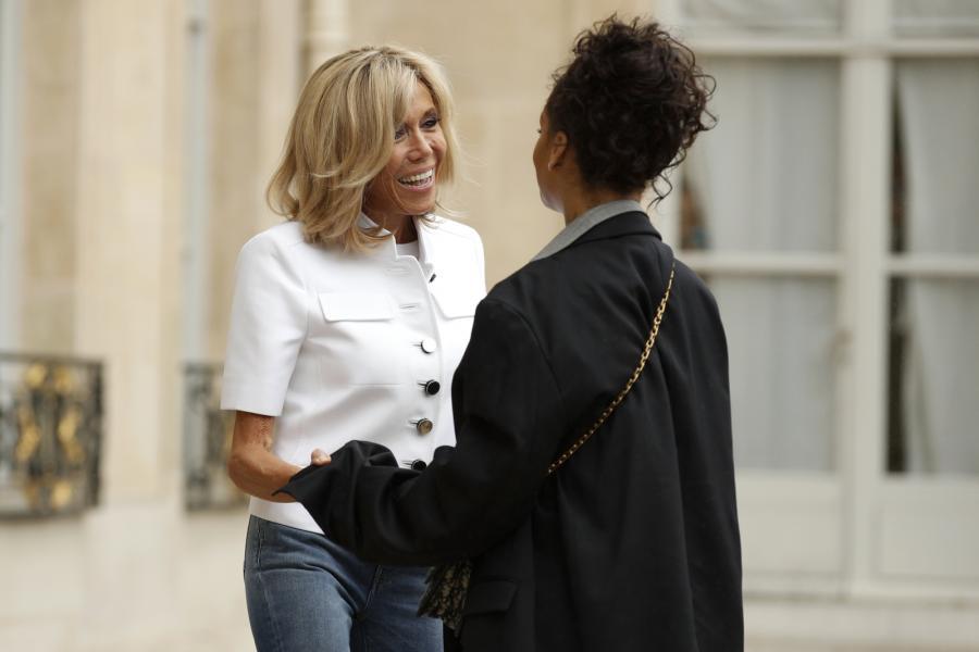 Brigitte Macron i Rihanna w Paryżu