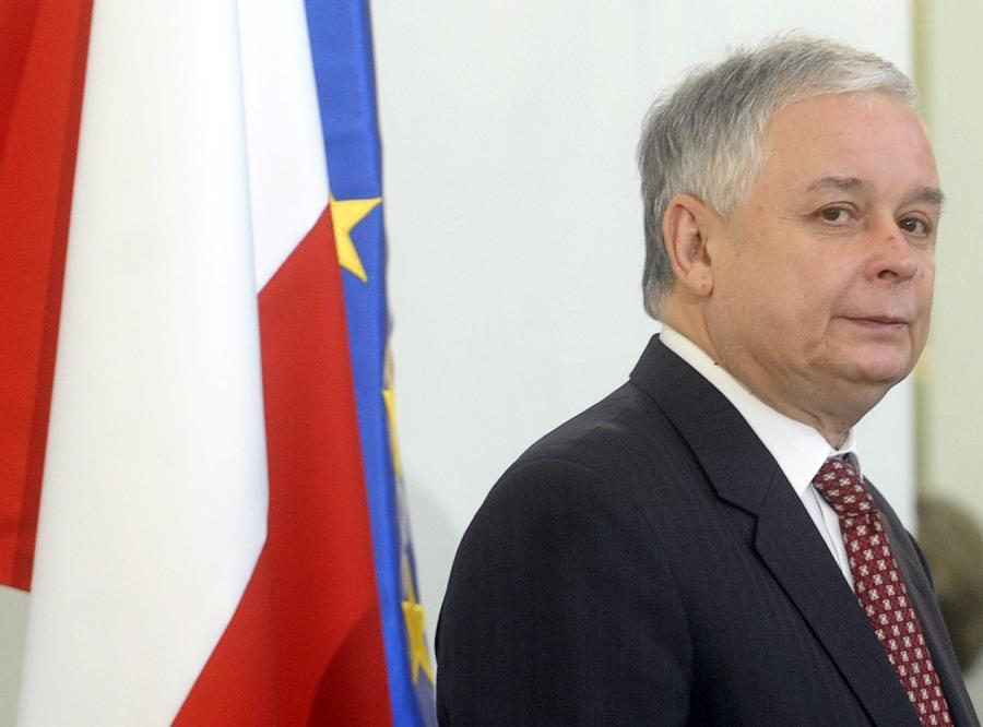 Lech Kaczyński liczy na Davos i... Tuska