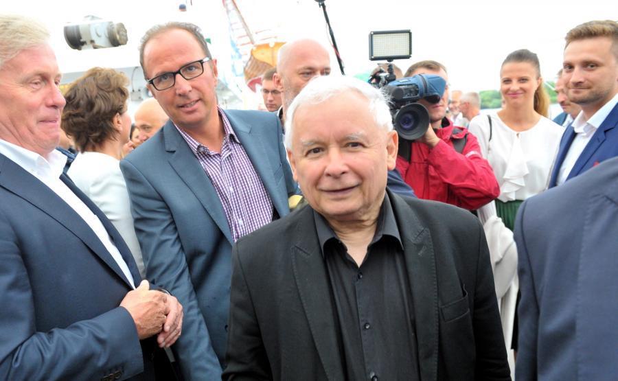 Kaczyński na otwarciu regat