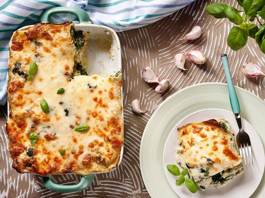 Lasagne z kurczakiem i pesto