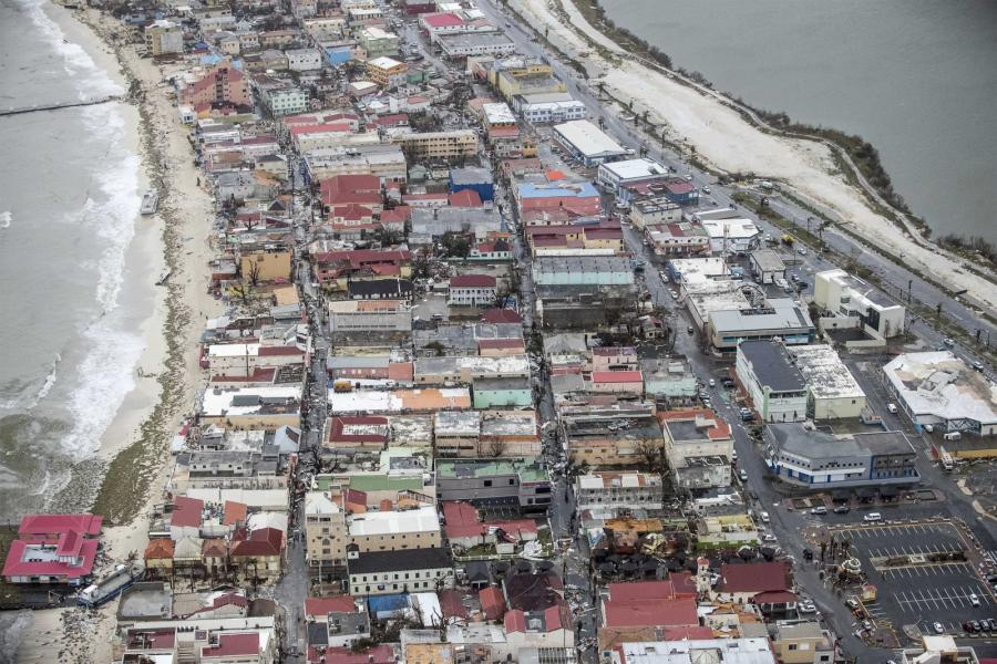 Zniszczenia na Sint Maarten