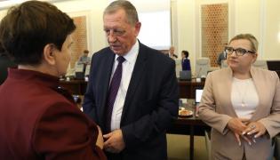 Premier Beata Szydło, minister środowiska Jan Szyszko i szefowa kancelarii premier Beata Kempa