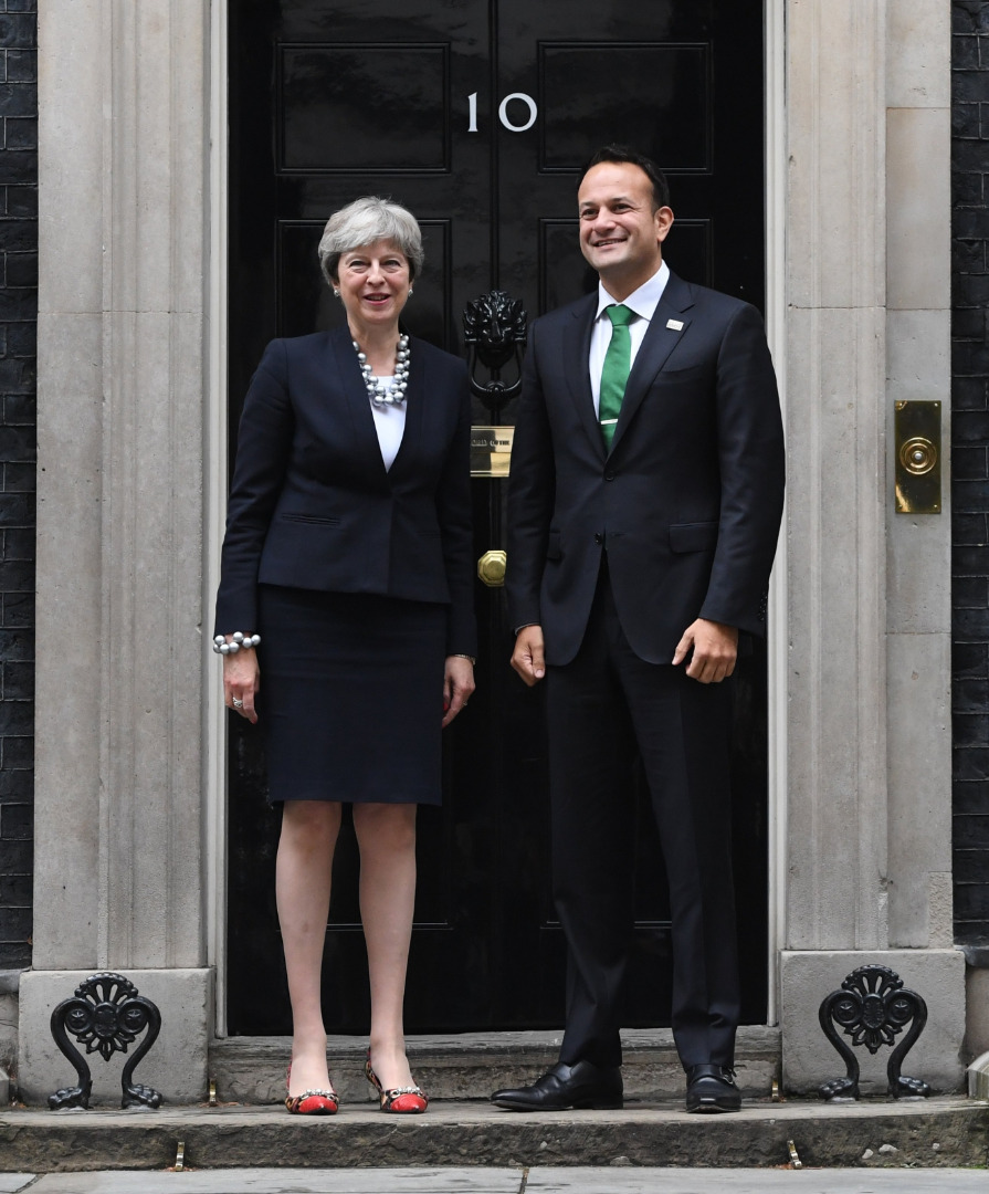Theresa May i Leo Varadkar