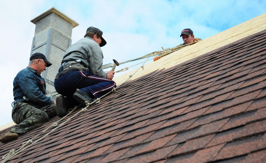 Robotnicy na dachu