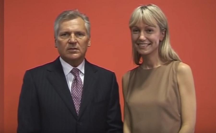 Aleksander Kwaśniewski i Magdalena Ogórek