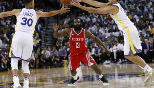 James Harden, Stephen Curry i Clay Thompson