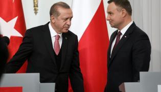 Prezydent Turcji Recep Tayyip Erdogan i prezydent Polski Andrzej Duda