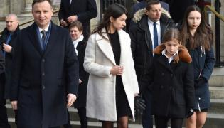 Prezydent Andrzej Duda i Marta Kaczyńska z córkami