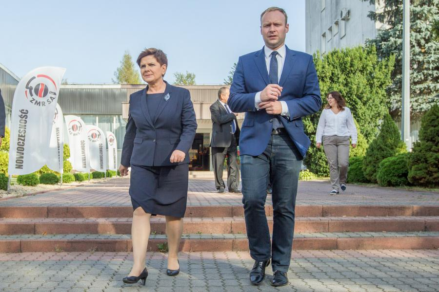 Beata Szydło i Marcin Mastalerek