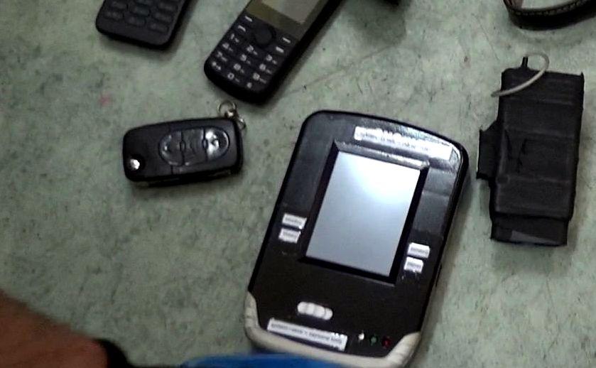 Urządzenia znalezione przy złodzieju złapanym w Zabrzu
