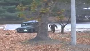 Uciekający z Korei Północnej żołnierz