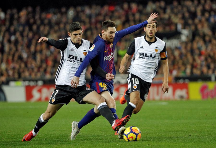 Lionel Messi, Gonzalo Guedes i Dani Parej