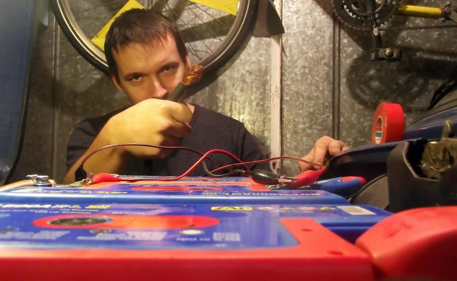 Tomek Atomek przy pracy :)