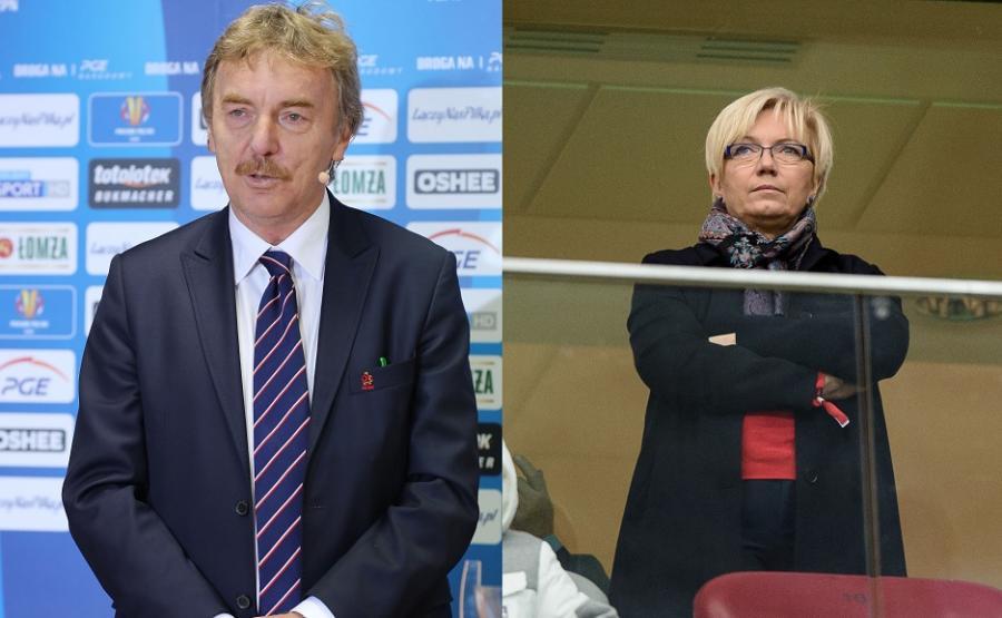 Zbigniew Boniek i Julia Przyłębska