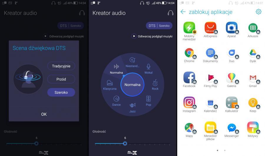 Kreator Audio, blokowanie aplikacji