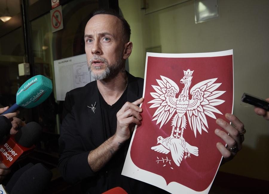 Adam Nergal Darski w sądzie w Gdańsku