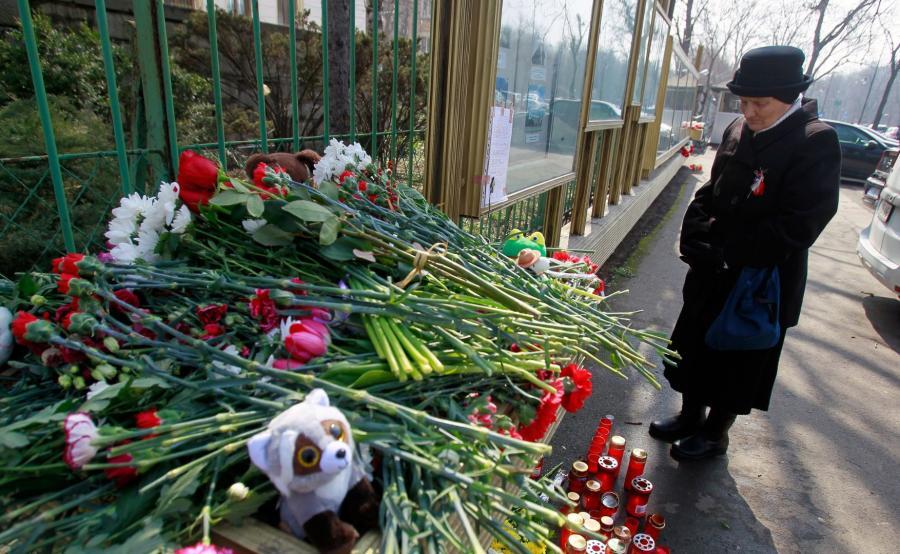 Hołd ofiarom pożaru w Kemerowie