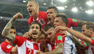 Radość piłkarzy reprezentacji Chorwacji