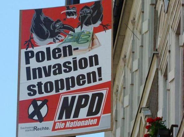 Antypolskie plakaty zawisły w Niemczech