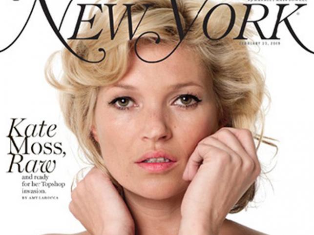 """W sesji dla magazynu """"New York"""" Kate Moss wystąpiła bez retuszu"""