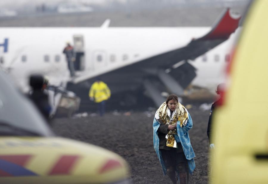 Samolot tureckich linii lotniczych rozbił się na lotnisku Schiphol w Amsterdamie