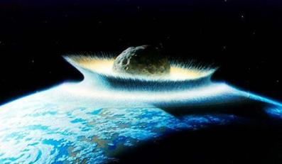 """PHOTO: EAST NEWS/SIPA PRESSArtist's concept of a catastrophic asteroid impact with the Earth. Life near the impact would be instantly wiped out from the effects of high temperatures and pressures. Injection of huge masses of dust (and gases) into the atmosphere would effectively block out sunlight for long periods of time to the point that most life could not be sustained (""""Nuclear Winter""""). *** Local Caption *** 00455833"""