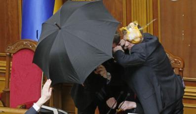 Zamieszki w Ukraińskim parlamencie
