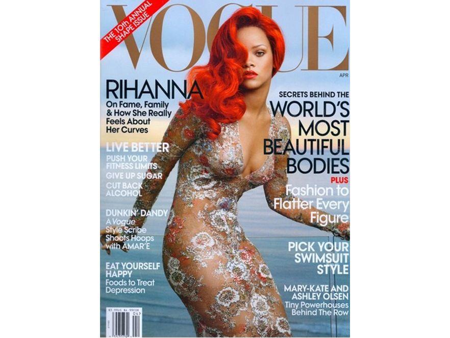 """Rihanna na dla kwietniowego numeru """"Vogue"""". Fot. Annie Leibovitz"""