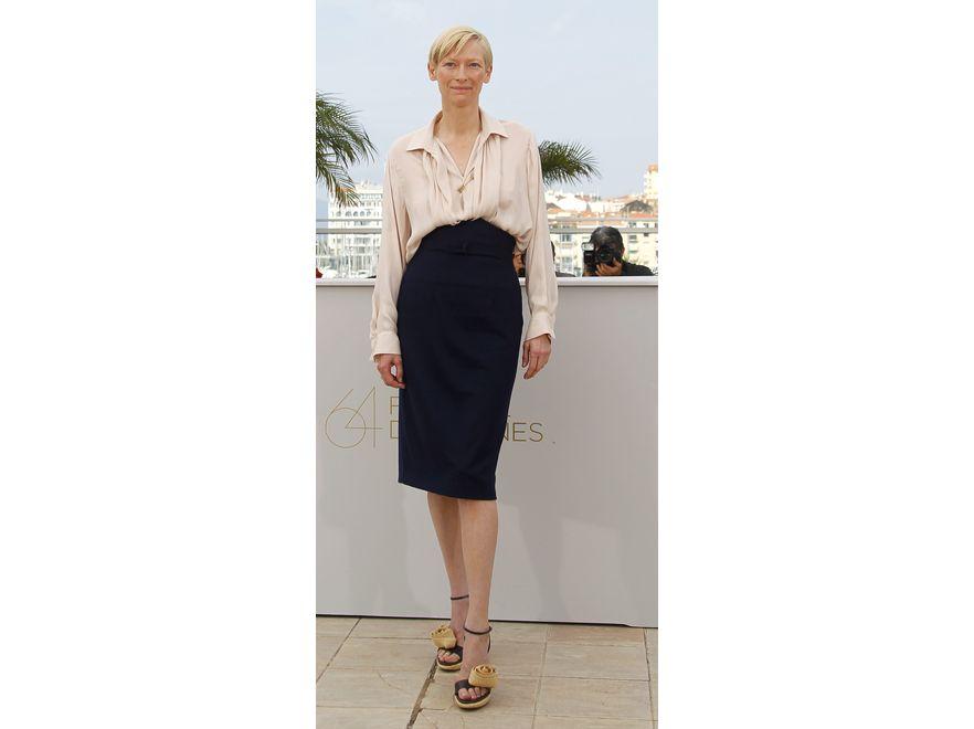 Minimalistyczna i stylowa: Tilda Swinton w Cannes