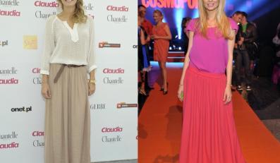 Małgorzata Socha i Agnieszka Szulim polubiły długość maxi. Która wygląda lepiej w tym fasonie spódnicy?