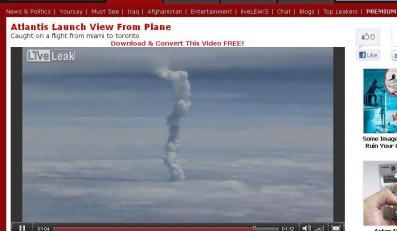 Zobacz start promu kosmicznego z okien samolotu!