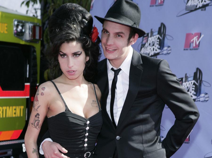 Amy i jej mąż Blake Fielder Civil na gali MTV Movie Awards w Los Angeles –czerwiec 2007