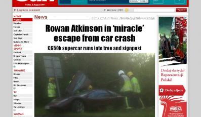 Jaś Fasola w szpitalu! Roztrzaskał auto za 3 mln!