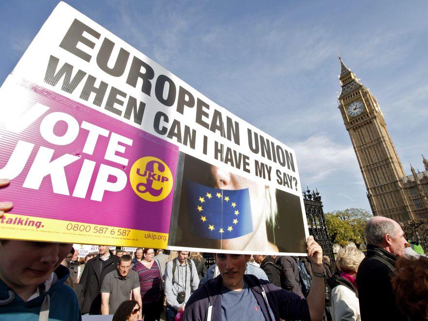 Eurosceptycy domagali się referendum w sprawie wyjścia z Unii Europejskiej