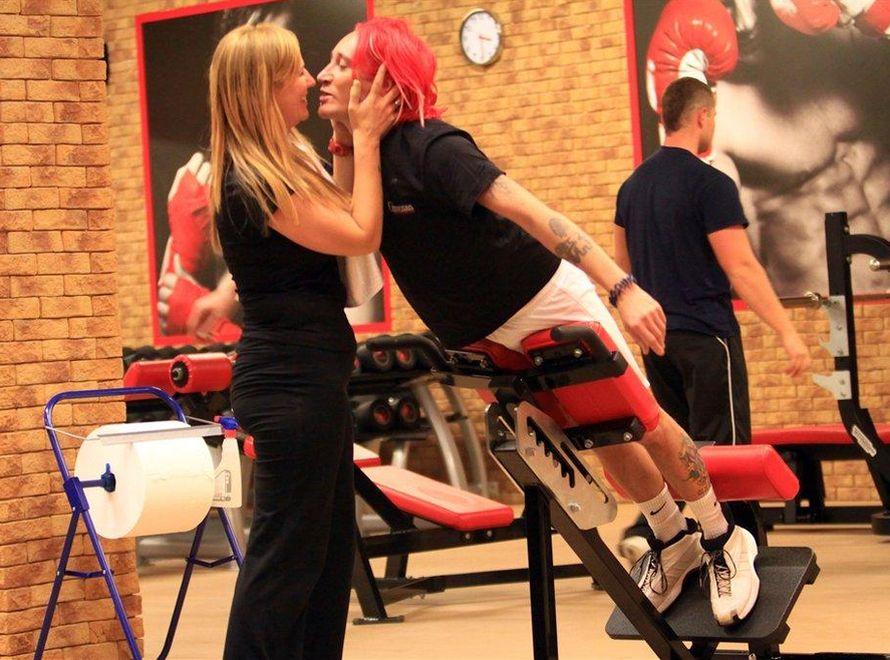 Dominika Tajner i Michał Wiśniewski na siłowni