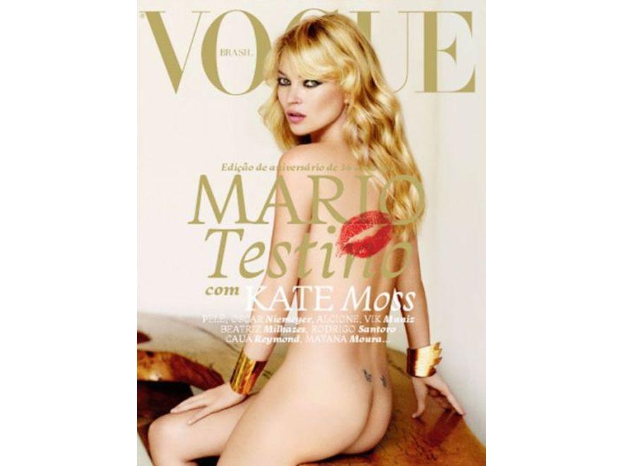 """Kate Moss na okładce brazylijskiej edycji """"Vogue"""". Fot. Mario Testino"""
