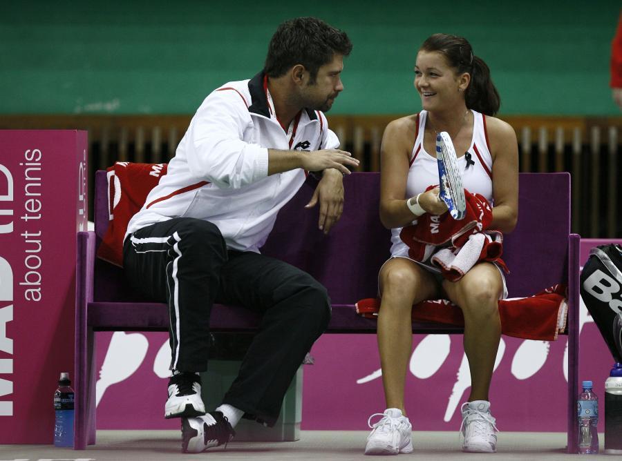 Tomasz Wiktorowski i Agnieszka Radwańska